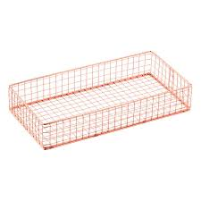 Wire Desk Organizer by Copper Wire Drawer Organizers The Container Store
