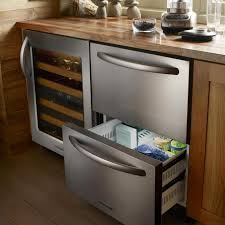 Built In Refrigerator Cabinets Kitchen Room Ge Undercounter Refrigerator How To Panel A