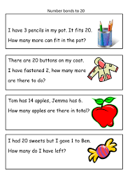 number bond problems by e bray teaching resources tes