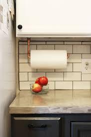 kitchen towel holder ideas diy cabinet hanging copper paper towel holder