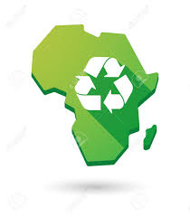Africa Continent Map by Isolated Africa Continent Map Icon With A Recycle Sign Royalty