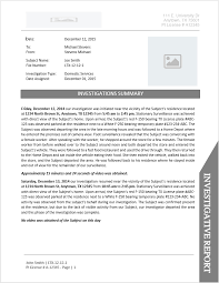 investigation report template investigator report template document downloads