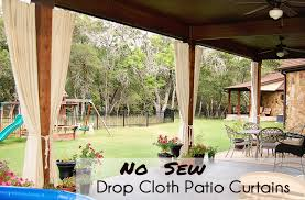 Outdoor Shades For Patio by Diy Patio Curtains From Drop Cloths With No Sewing Scattered