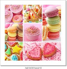 free art print colorful cakes collage colorful cakes collage