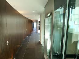 masterful glass window front wooden door fit to hallway designs