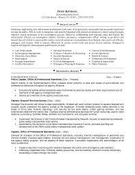 sheriff officer sample resume law enforcement instructor resume