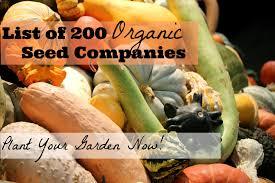 list 200 organic seed companies