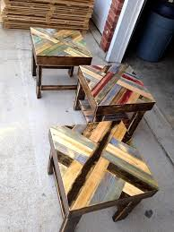 Outdoor End Table Plans Free by Diy Pallet End Tables 101 Pallet Ideas U2026 Pinteres U2026