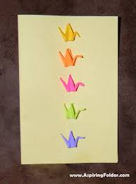 origami crane card aspiring folder