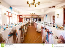wedding reception place ready to receive guests royalty free stock
