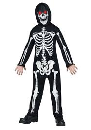 Boys Skeleton Halloween Costume Fade In Out Skeleton Costume For Kids