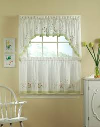 Green And White Curtains Decor Furniture Decorative Kitchen Curtains For Kitchen Window