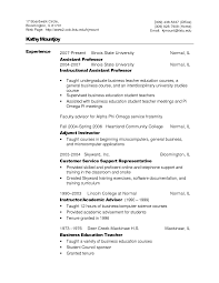 Adjunct Instructor Resume Sample by Resume Sample Financial Advisor