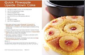 pineapple upside down cake in the rockcrok from the pampered chef