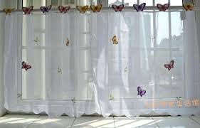 Kitchen Tier Curtains Monarch Butterfly Kitchen Curtains Small Butterfly Sheer Curtain