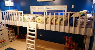 Doubleloftbunkbedwithstairs  Double Loft Bunk Bed For Kids - Double loft bunk beds