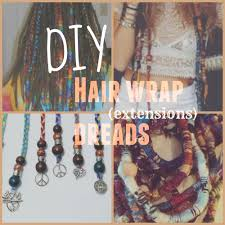 Make Clip In Hair Extensions by Diy Hair Wrap Dread Extensions Włosy Pinterest Diy
