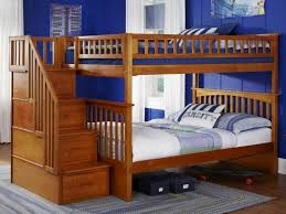 Plans For Bunk Beds With Storage Stairs by Twin Over Full Bunk Bed With Stairs Bunks And Beds Stair Bunk