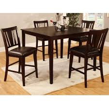 high table with four chairs cypress high top dining table furniture with espresso finish wooden