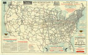 Map Of Michigan Highways by Map Of United States Proposed National Highways System 1915