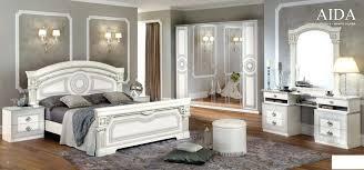 meuble chambre blanc laqué meuble chambre blanc chambre a coucher italienne aida blanc argent