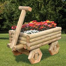 landscape timber wagon planter plan build this attractive wagon