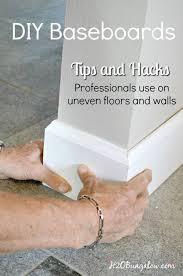 Installing Base Cabinets On Uneven Floor Best 25 Baseboard Ideas Ideas On Pinterest Baseboards