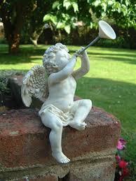 cherub horn ornament horn cherub ornament horn