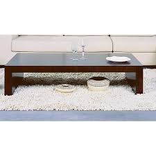 modern minimalist style coffee table in espresso finish aptdeco