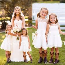 flower girl wedding 2016 elizabeth lace white flower girl dresses for toddler