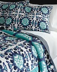Navy Quilted Coverlet Turquoise And Navy Quilt From Garnet Hill Style Pinterest