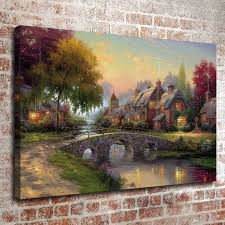 home interiors kinkade prints kinkade painting landscape rural cottage series 2 hd