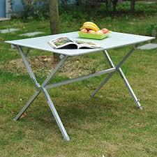 aluminum portable picnic table outsunny 45 x28 x28 aluminum portable picnic table folding roll up