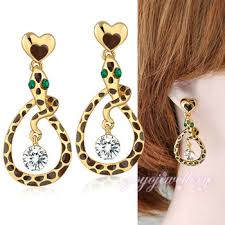 earring design snake shape drop design new model simple gold earring designs for
