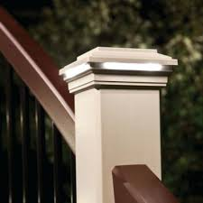 amazing deck post lights for accent your railing with deck post