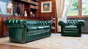 Lancaster Leather Sofa Chesterfield Sofa Leather 3 Seater Green Lancaster