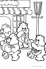 care bears coloring kids care bears
