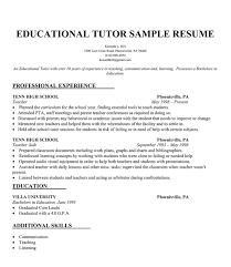 Sle Resume by Educational Tutor Resume Sle Resumecompanion Resume