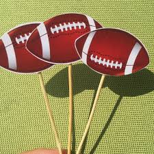 football decorations rugby balls birthday party decorations cake top american football