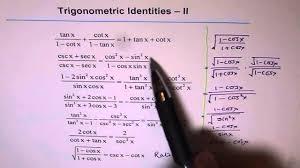 Sin Cos Tan Worksheet Trigonometric Identities Worksheet 2 Youtube