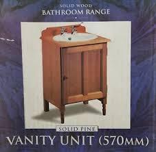 Wooden Vanity Units For Bathroom Solid Wood Vanity Units Ebay