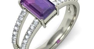 large amethyst diamond white gold engagement rings outstanding engagement rings amethyst white