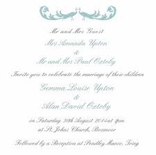 Wedding Invitations Sayings Wedding Invitations Wording Samples From Bride And Groom