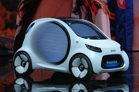 vw considers making an electric smart vision eq makes public debut as u0027electric city car of future