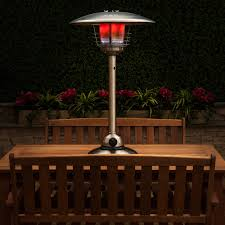 steel table top gas patio heater with adjustable heat control