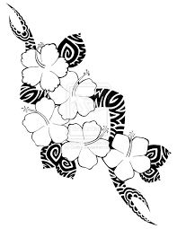 hibiscus pattern to draw how to draw a hawaiian tattoo step by