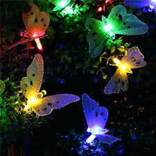 color changing solar string lights butterfly solar string lights back to home color changing ewakurek com