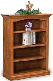 3 Shelf Bookcase With Doors Up To 33 Amish Mission Shaker Bookcases Amish Outlet Store