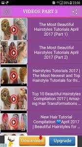 download hairstyle tutorial videos best hairstyle videos tutorial for android free download and