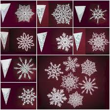 wonderful diy paper snowflakes with pattern paper snowflakes